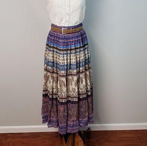 Sundance Boho Praire Peasant Maxi Skirt Size S